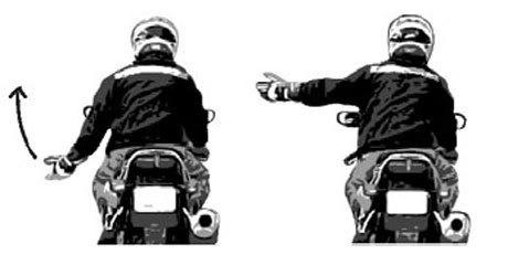 Tăng tốc: Cánh tay trái mở nhẹ ra khỏi người, ngửa bàn tay, cánh tay hất nhẹ lên trên lặp lại nhiều lần.